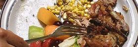 cibo avanzato nel piatto